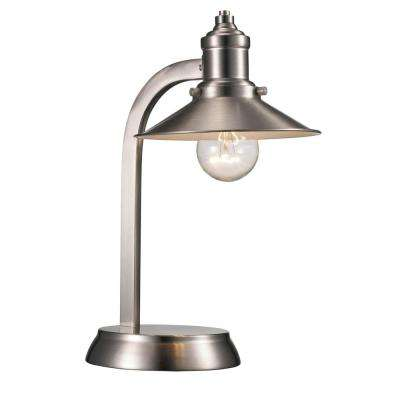 Hardwired table lamps lamps the home depot brushed nickel table lamp with metal shade keyboard keysfo Choice Image