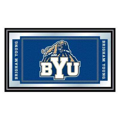 BYU 15 in. x 26 in. Black Wood Framed Mirror