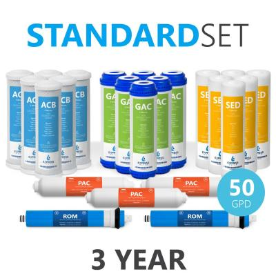 Express Water – 3 Year Reverse Osmosis System Replacement Filter Set – 23 Filters with 50 GPD RO Membrane – 10 inch Size