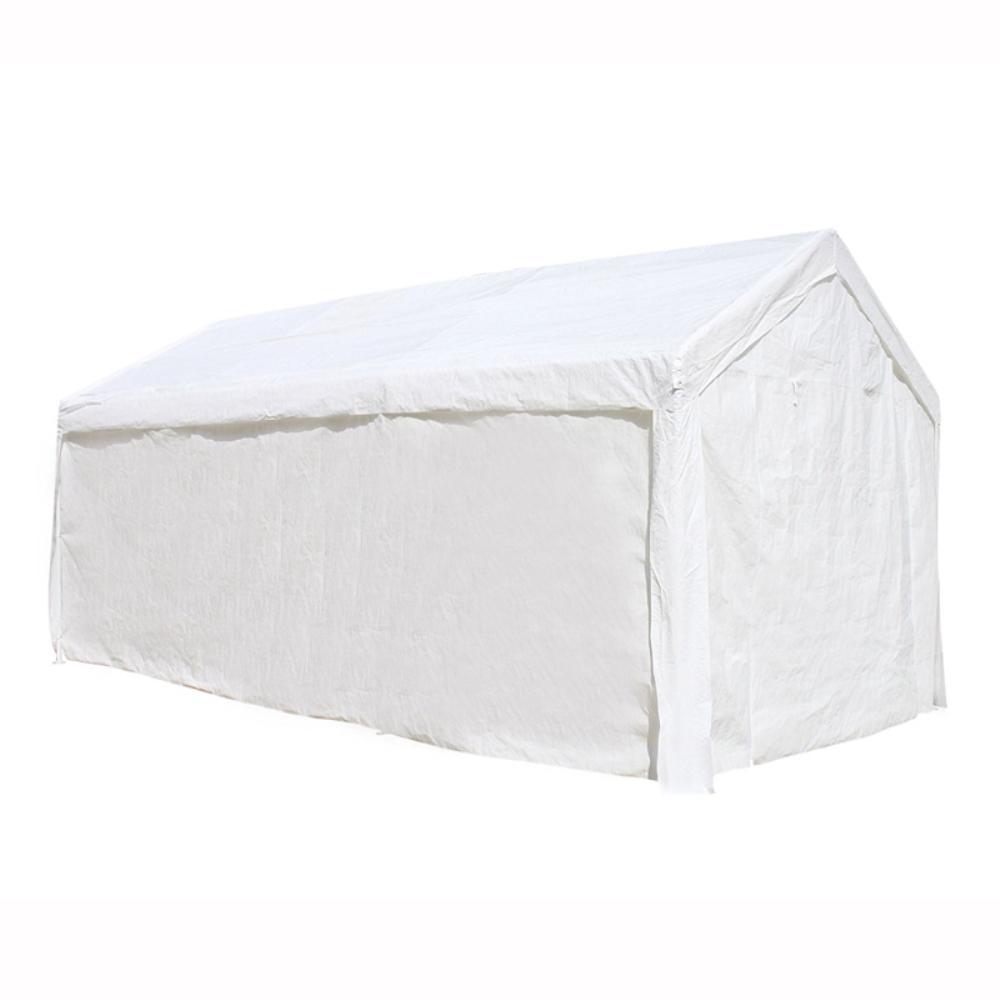 10 ft. x 20 ft. x 8.6 ft. White Roof PVC Carport