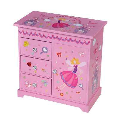Krista Girl's Pink Fashion Paper Musical Ballerina Jewelry Box