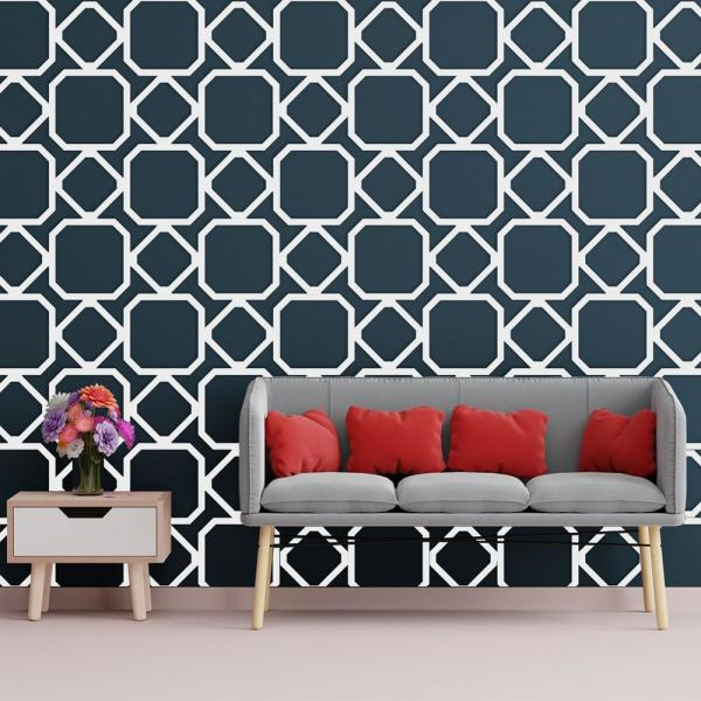 Ekena Millwork 3/8 in. x 28-7/8 in. x 15-3/4 in. Medium Lockhart White Architectural Grade PVC Decorative Wall Panels