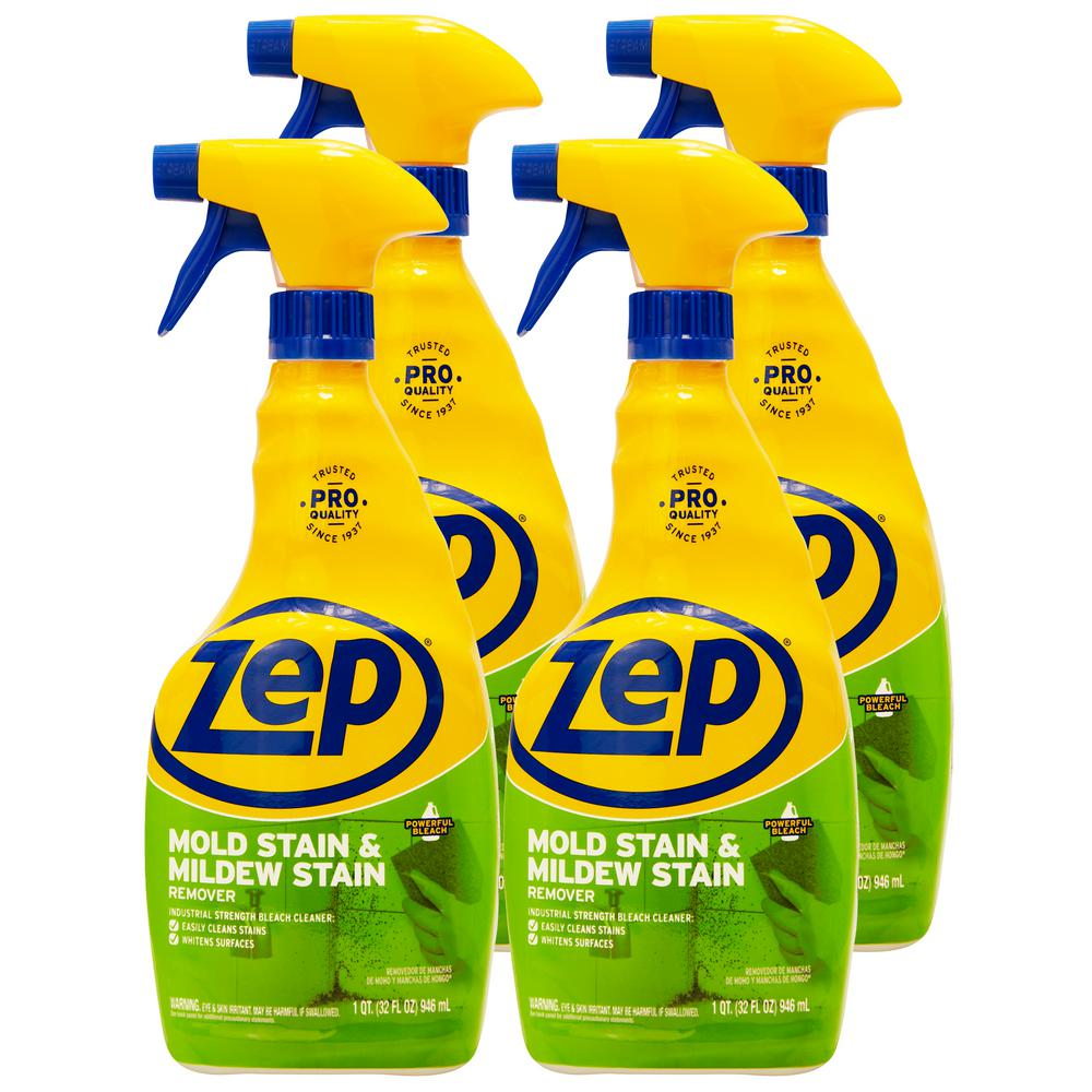 ZEP 32 oz. Mold Stain and Mildew Stain Remover (Case of 4)