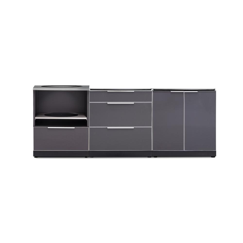 Newage Gray Outdoor Cabinet Set Without Countertop