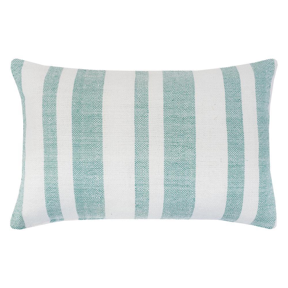 Sea Glass Sea Glass Striped Down Alternative 22 in. x 4 in. Throw Pillow
