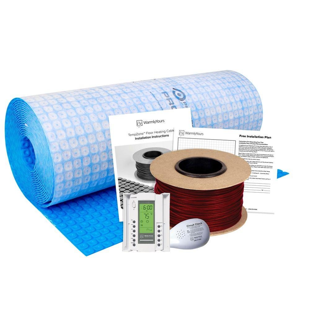 WarmlyYours TempZone 92 sq. ft. 355 ft. Cable Kit with Prodeso Membrane