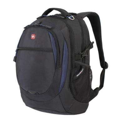 18.5 in. Black and Navy Backpack