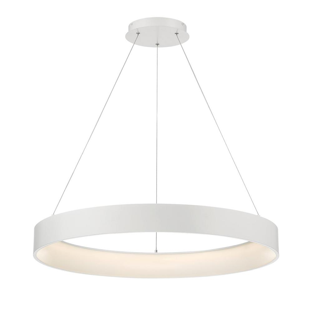 Home Decorators Collection Hollandale 200-Watt Integrated LED White Pendant