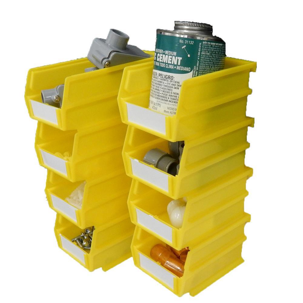 yellow polypropylene locbin storage bins 028 y 64 600