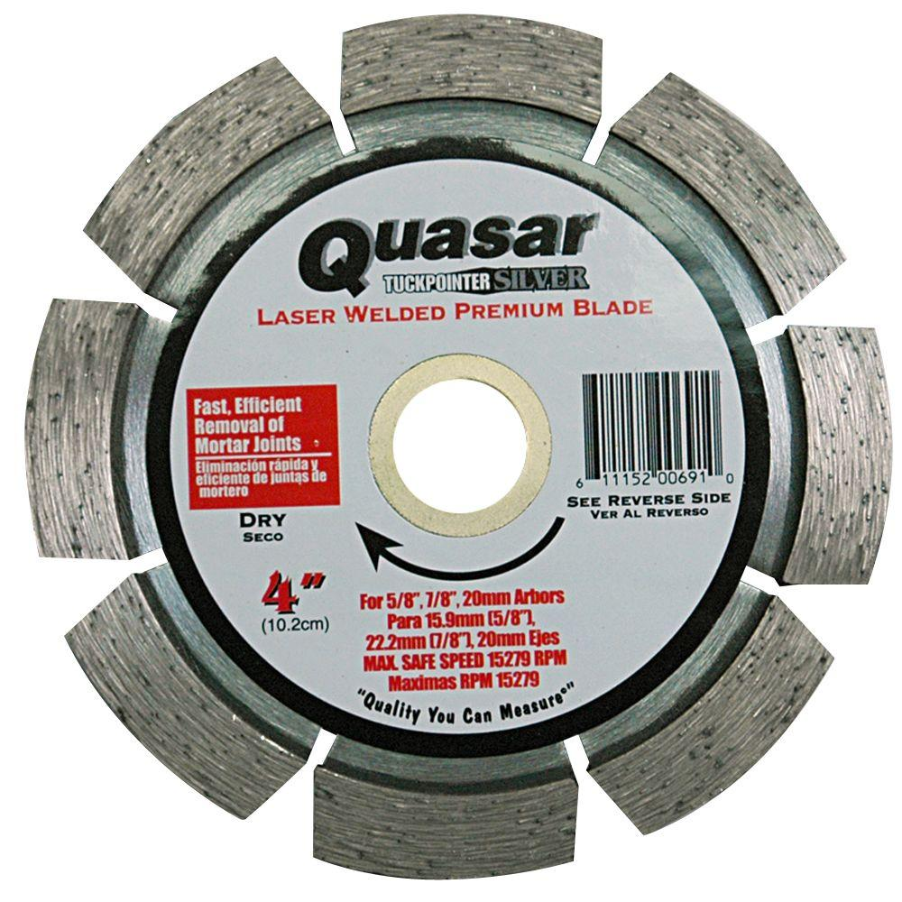 Tuckpointer Silver 4 in. Laser Welded Premium Segmented Diamond Blade
