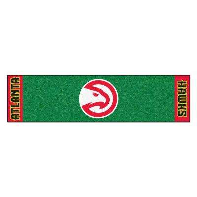 NBA Atlanta Hawks 1 ft. 6 in. x 6 ft. Indoor 1-Hole Golf Practice Putting Green