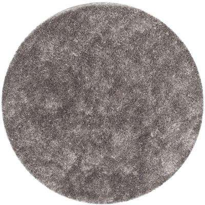New Orleans Shag Gray 7 ft. x 7 ft. Round Area Rug