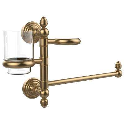 Waverly Place Collection Hair Dryer Holder and Organizer in Brushed Bronze