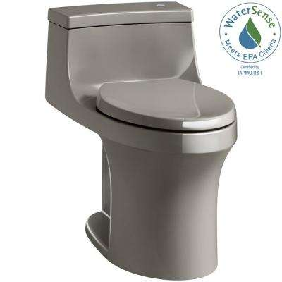 San Souci Touchless Comfort Height 1-Piece 1.28 GPF Single Flush Elongated Toilet with AquaPiston Flush in Cashmere