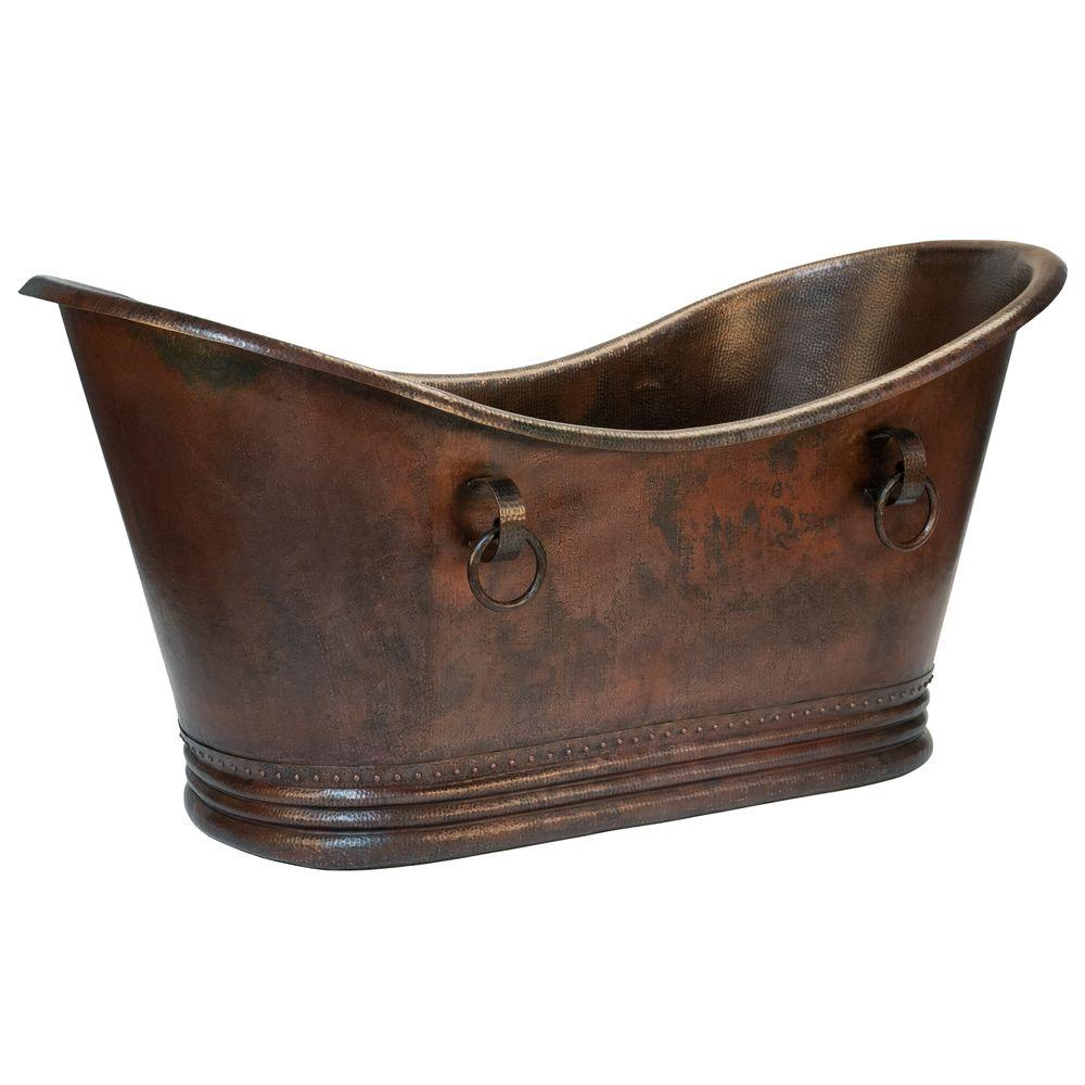Premier Copper Products 6 ft. Hammered Copper Double Slip...
