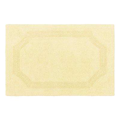 Reversible Yellow Cotton 2-Piece Bath Mat Set