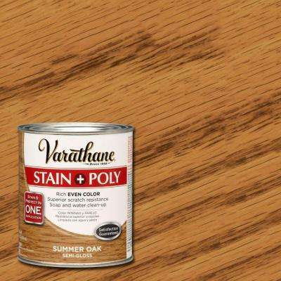 1-qt. Summer Oak Stain and Polyurethane (Case of 2)
