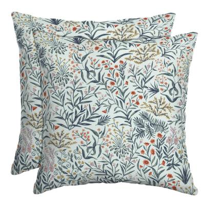 16 x 16 Pistachio Botanical Outdoor Throw Pillow, 2 pack