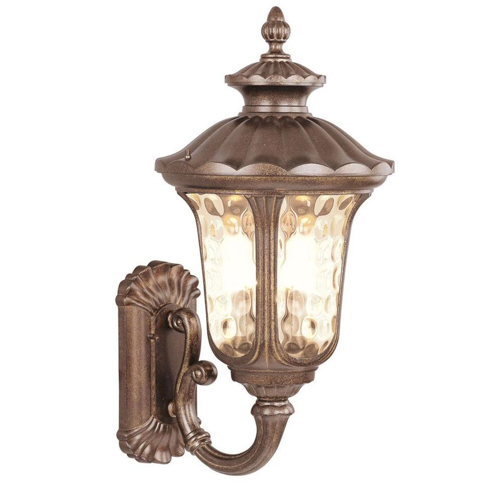 Livex Lighting Providence Wall-Mount 1-Light Moroccan Gold Outdoor Incandescent Lantern