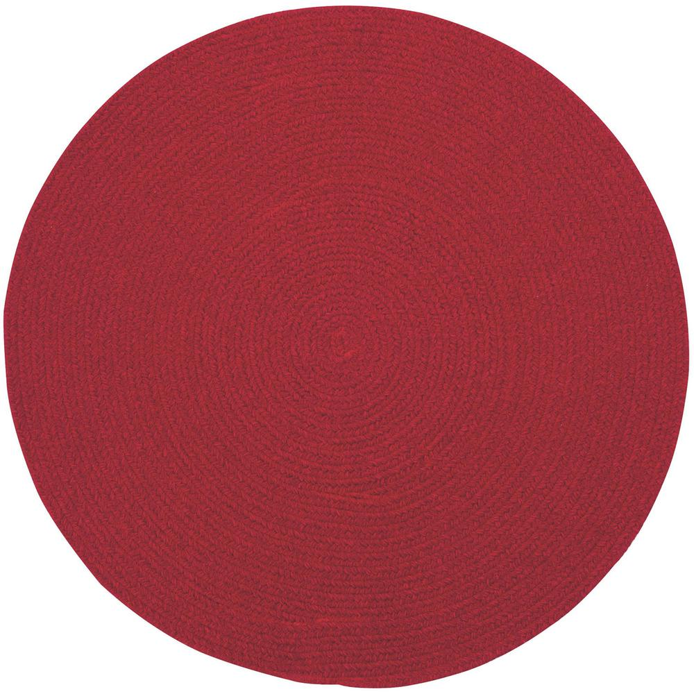 Manteo Dark Red 8 ft. 6 in. Round Area Rug