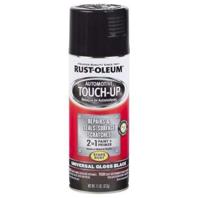 11 oz. Universal Gloss Black Touch Up Spray (6 Pack)