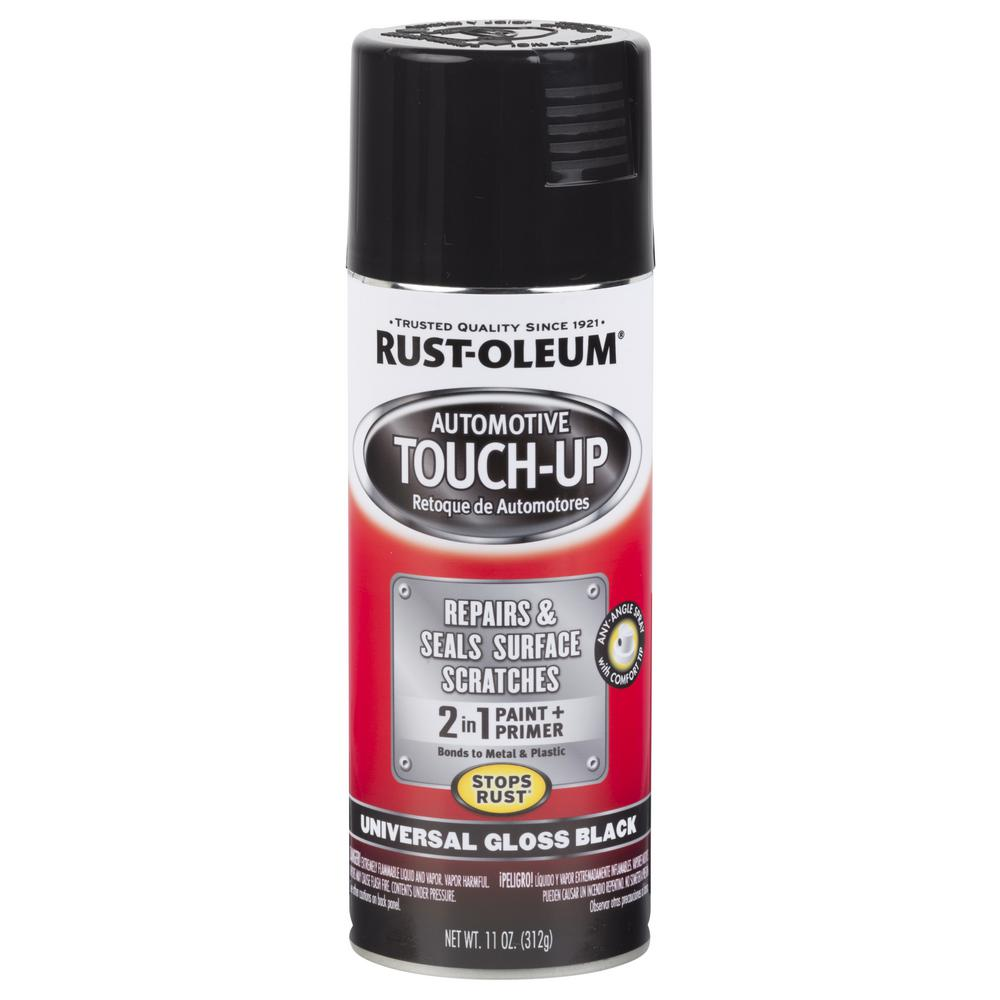 Rust-Oleum Automotive 11 oz  Universal Gloss Black Touch-Up Spray Paint and  Primer in One (6-Pack)