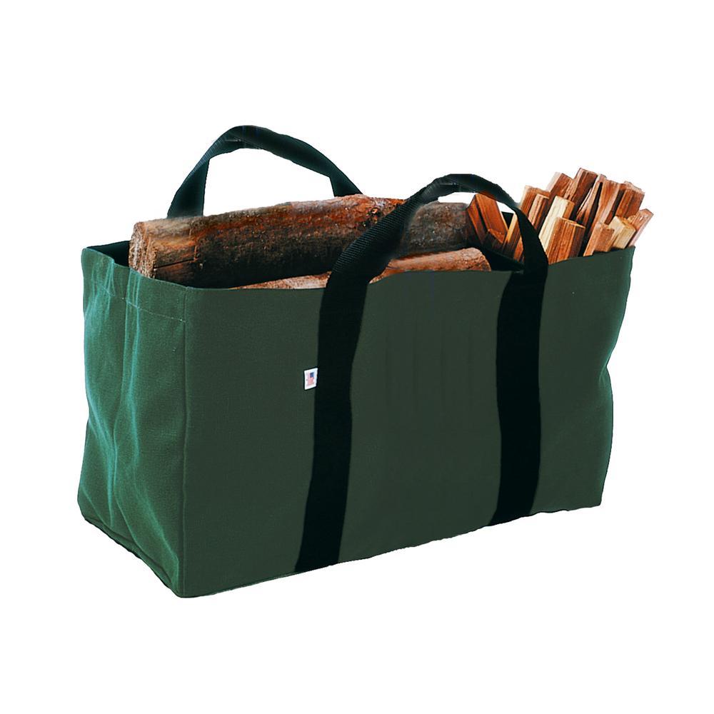 Enclume Green Canvas Log Carrier Bag