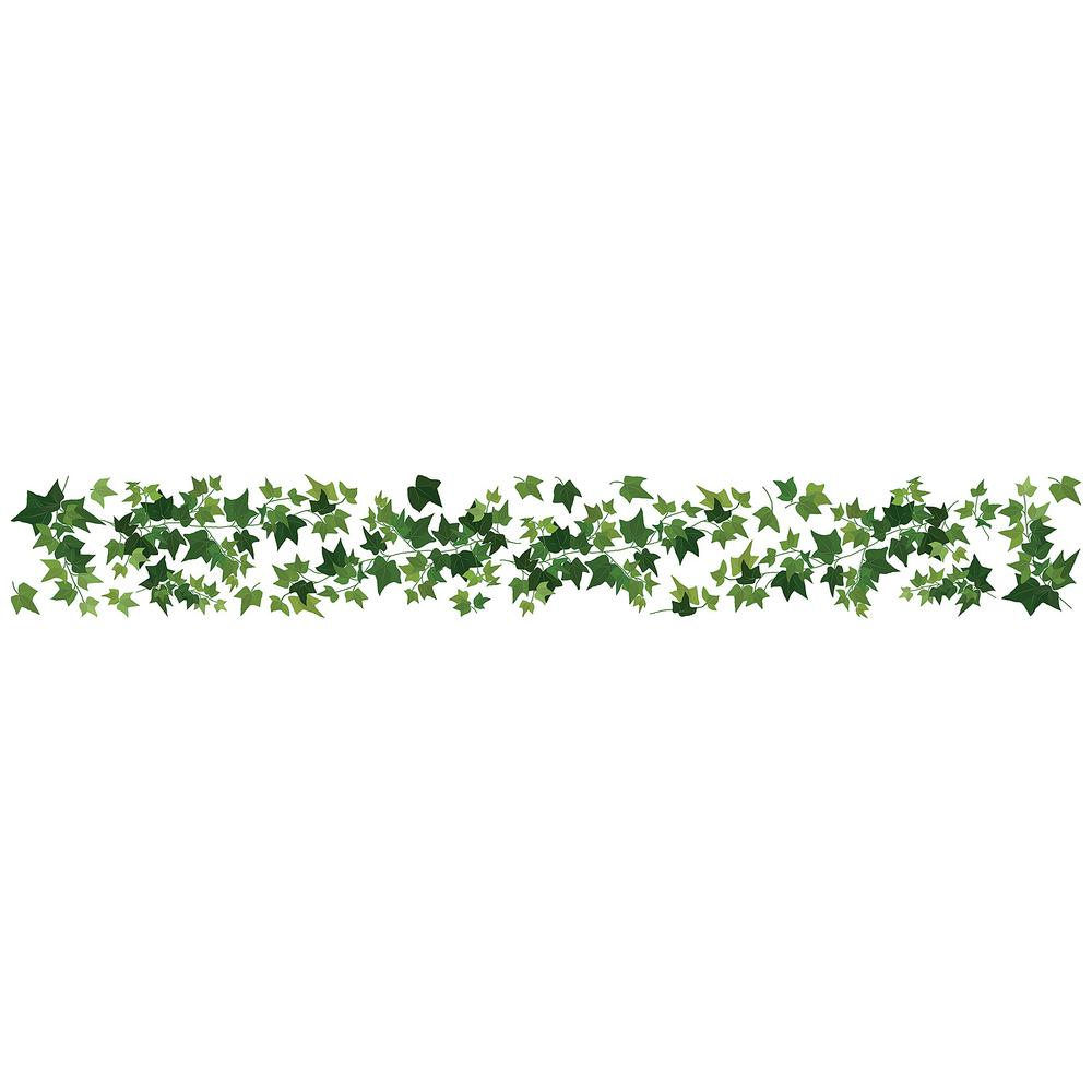 home decor line ivy border green wall decal cr 53013 the home depot
