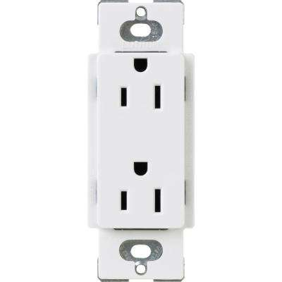 Claro 15 Amp Duplex Outlet, White