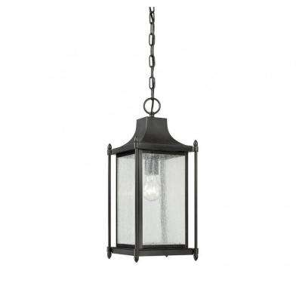 Ferrers 1-Light Black Outdoor Hanging Lantern