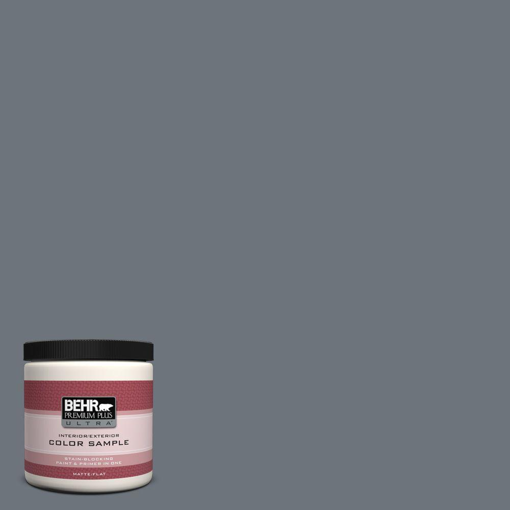 8 oz. #750F-5 Silver Hill Matte Interior/Exterior Paint and Primer in