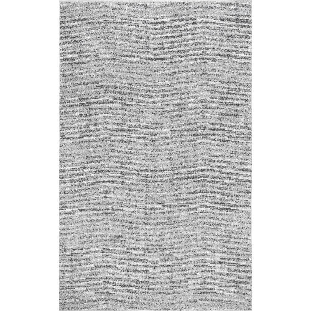 Sherill Modern Ripples Gray 8 ft. x 10 ft. Area Rug