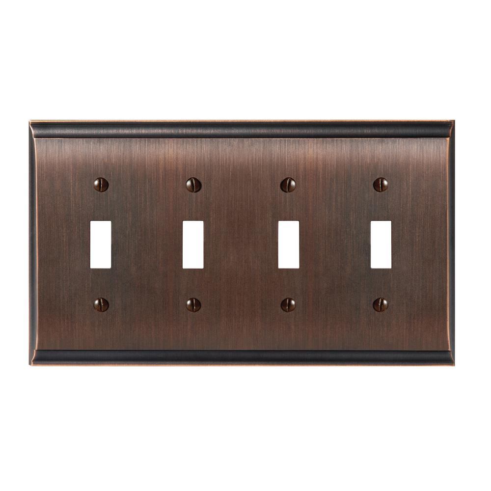 Candler 4 Toggle Wall Plate Oil Rubbed Bronze
