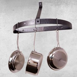 Enclume Hammered Steel Wall Mounted Half Circle Pot Rack by Enclume