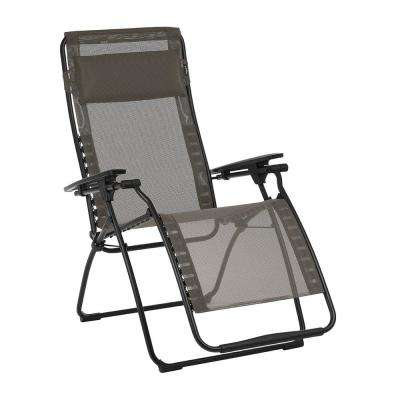 1edbc50a10 Futura in Graphite Color with Steel Frame Reclining Zero Gravity Lawn Chair