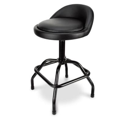 Pneumatic Swivel Metal Bar Stool with Low Back Support