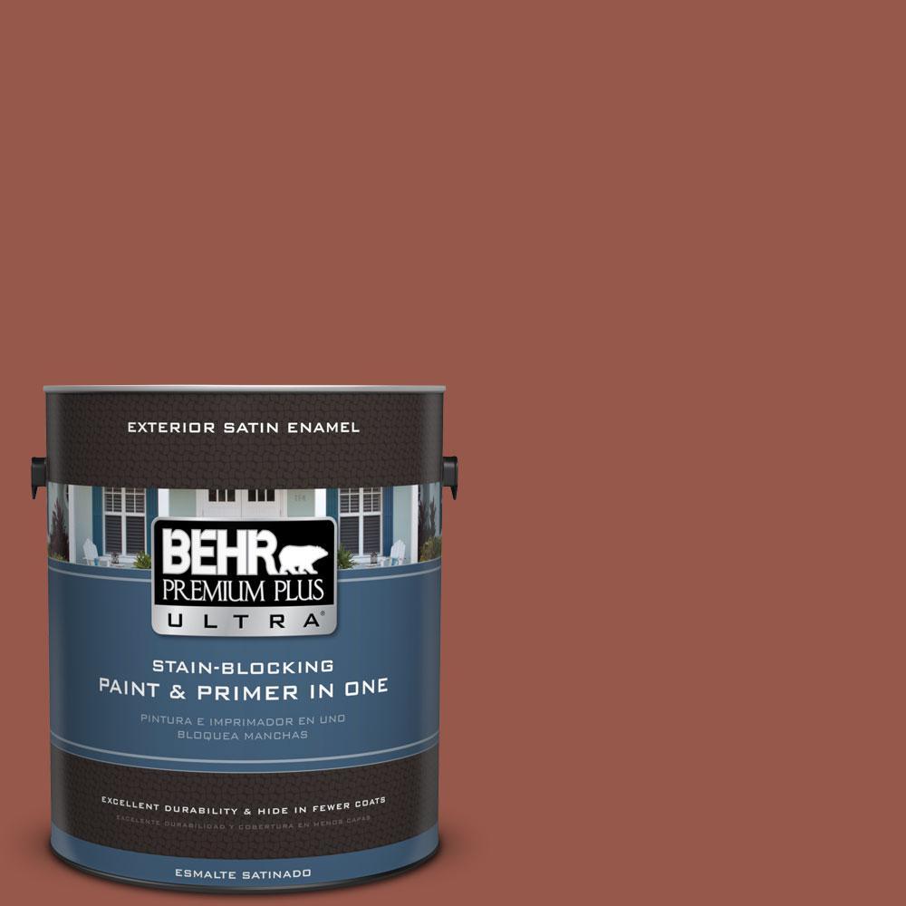 BEHR Premium Plus Ultra 1-gal. #BIC-47 Caliente Satin Enamel Exterior Paint