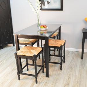 Internet #206682595. Carolina Cottage Carter Black Bar Table