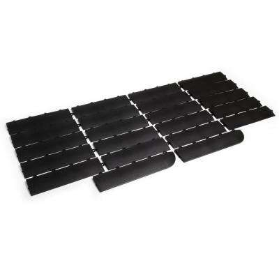 12 in. x 3 in. Black Modular Female Edging Kit (22-Piece, includes 2 Corner Edges)