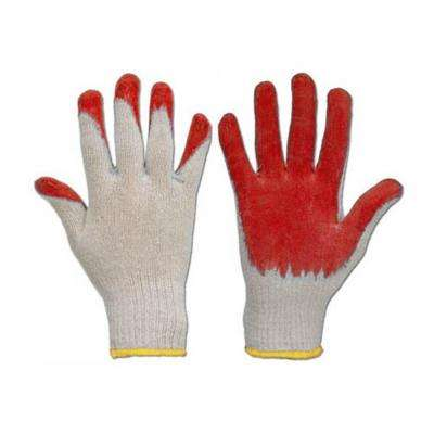 Red Latex Grip Palm Cotton Gloves (100-Pack)
