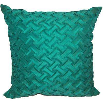 Lattice Teal Decorative Pillow