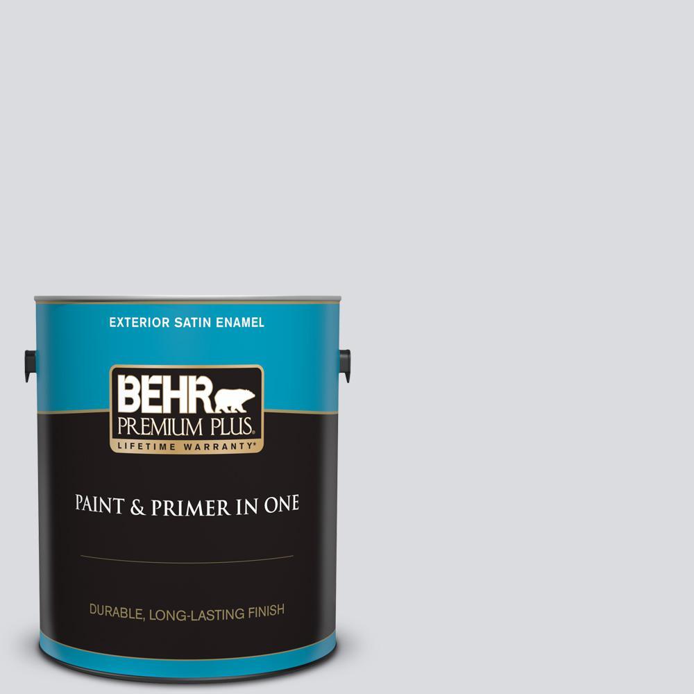 b4518962308df7 BEHR Premium Plus 1 gal.  N540-1 Script White Satin Enamel Exterior ...