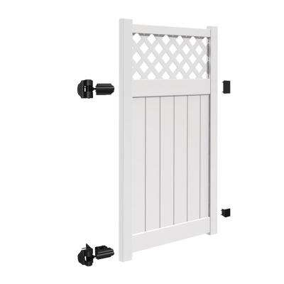 Valley 4 ft. W x 6 ft. H White Vinyl Un-Assembled Fence Gate