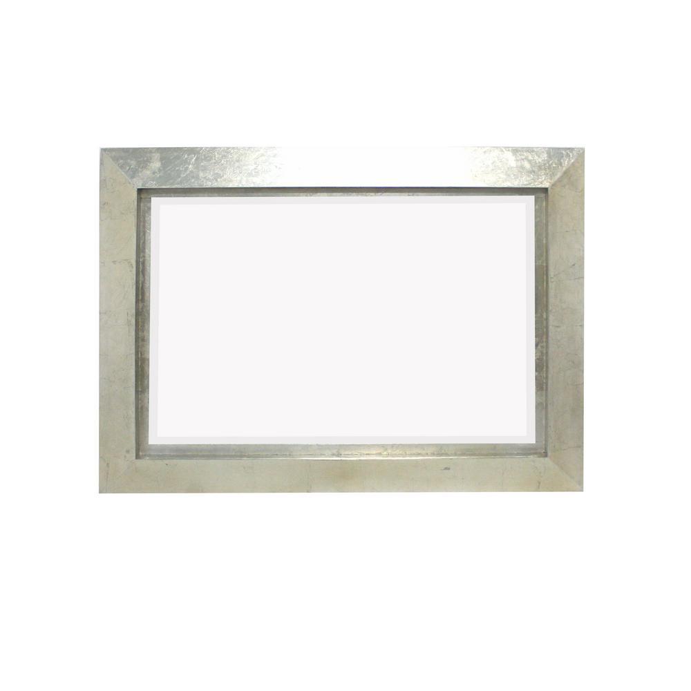 Silver Wood Wall Mirror
