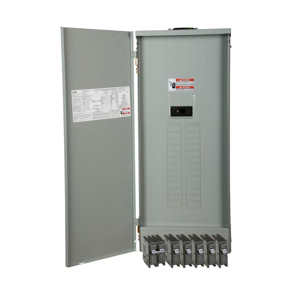 Eaton BR 200 Amp 30-Space 40-Circuit Outdoor Main Breaker Loadcenter ...