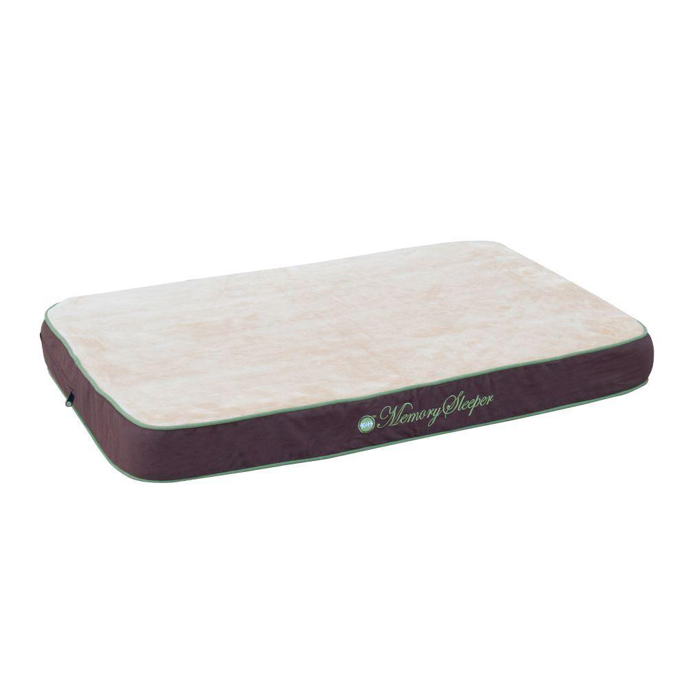 Memory Sleeper Large Mocha Dog Bed
