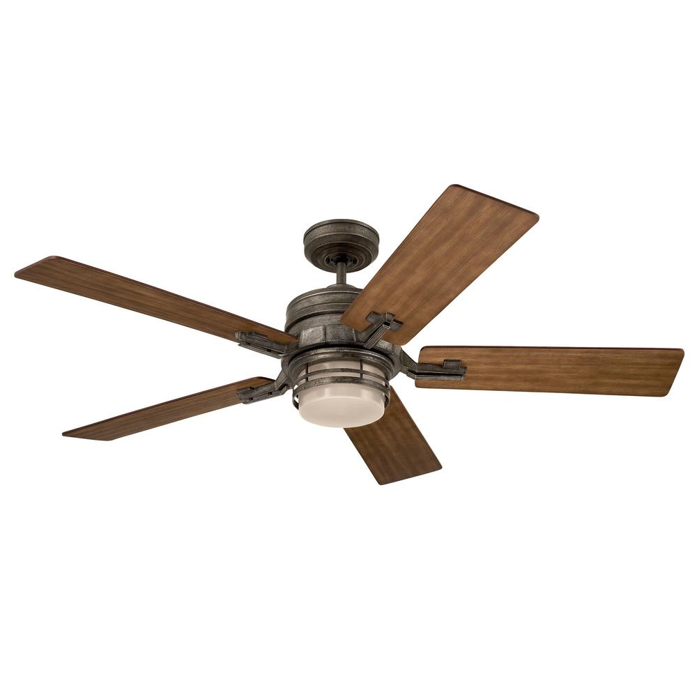 Emerson amhurst 54 in vintage steel ceiling fan cf880vs for The emerson