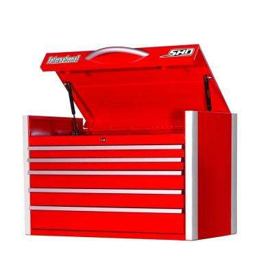 SHD Series 35 in. 5-Drawer Top Chest, Red