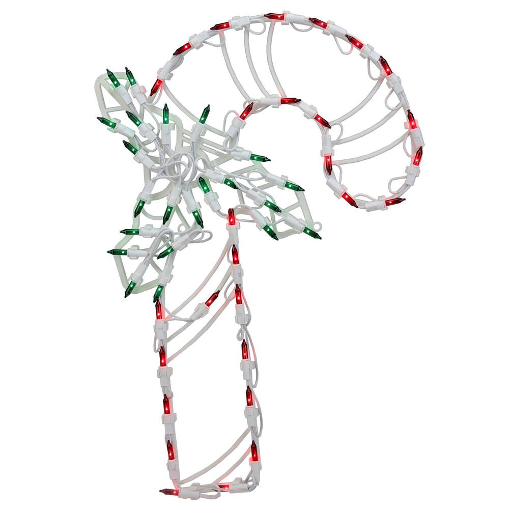 Northlight 18 in. LED Lighted Candy Cane Christmas Window ...
