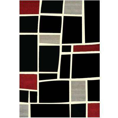 Terra Bedford Black 5 ft. 3 in. x 7 ft. 6 in. Area Rug